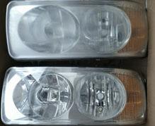 Polerowanie lamp i reflektorów